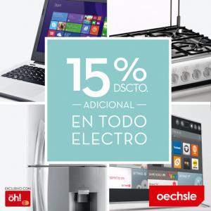 15% de descuento en todo electro