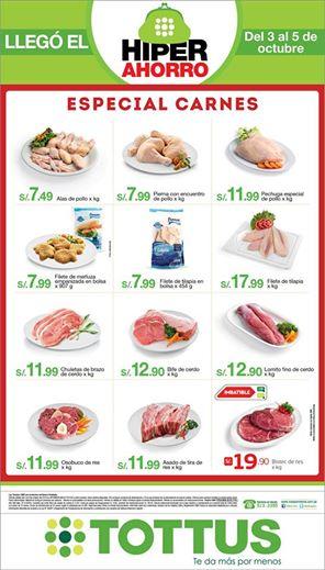 Especial de carnes en Tottus