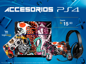 Accesorios para PS4 desde S/. 15.90