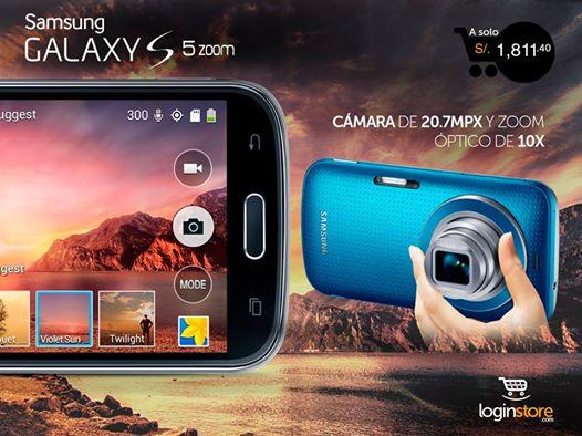 Samsung Galaxy S5 Zoom a sólo S/.1811.40