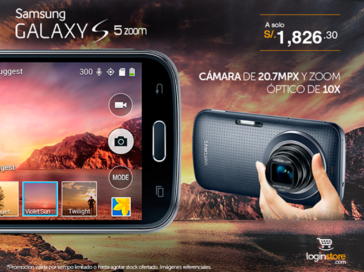 Samsumg Galaxy S5 zoom a sólo S/. 1826.30