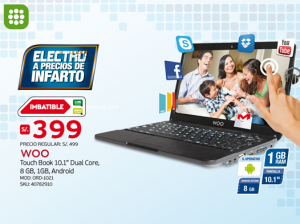 Touch Book a sólo S/. 399.00