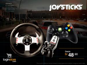 Joysticks desde S/ 48.90
