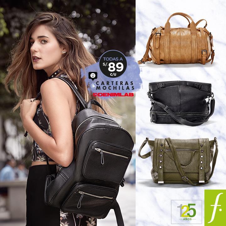 Carteras y mochilas Denimlab a sólo S/.89