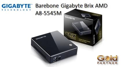 Barebone Gigabyte Brix AMD A8-5545M a S/. 917