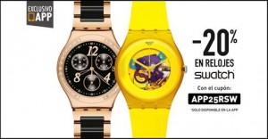 20% de descuento en relojes
