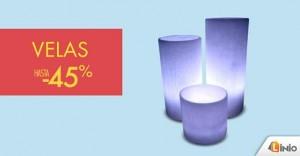 Hasta 45% de descuento en velas