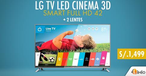 """Smart Full HD 42"""" a sólo S/.1499"""