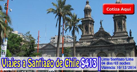 Paquete Turístico a Santiago de Chile desde $413