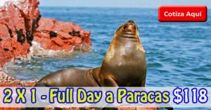 PROMOCIÓN 2 X 1 – Full Day a Paracas desde $118