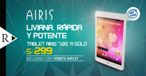 Tablet Airis a solo S/. 299.00