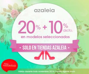 Hasta 30% de descuento en tiendas Azaleia