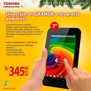Tablet Toshiba a sólo S/. 345.00