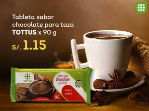 Chocolate para taza a sólo S/. 1.15