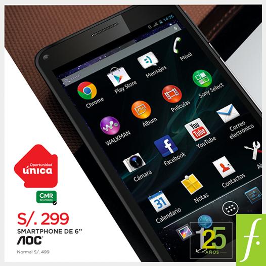 Smartphone AOC a sólo S/. 299.00