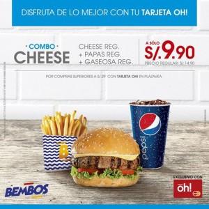 Combo Cheese de Bembos a sólo S/. 9.90