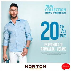20% de descuento en prendas Primavera-Verano