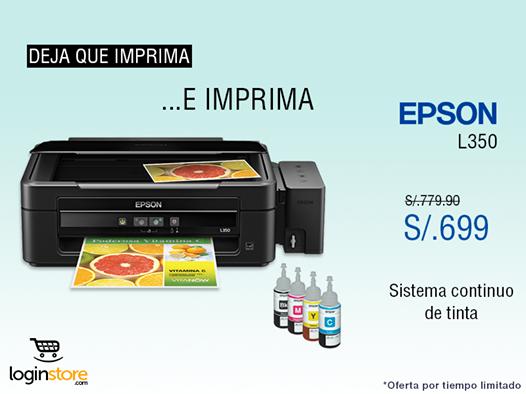 Impresora Epson a sólo S/. 699.00
