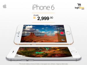iPhone 6 a sólo S/. 2999.90