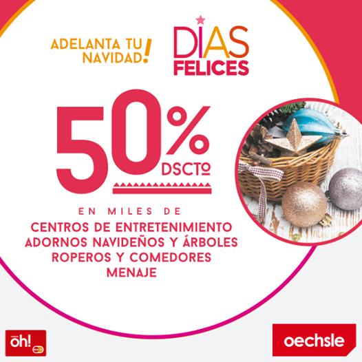 50% de descuento en centros de entretenimiento, adornos navideños, árboles, roperos, comedores y menaje