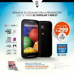 Motorola E a sólo S/. 299.00