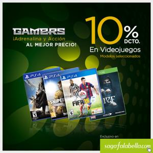 10% de descuento en videojuegos