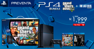 PS4 + Grand Theft Auto V + The Last of US a sólo S/. 1999.00