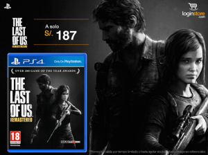 The Last of Us a sólo S/. 187.00