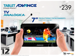 Tablet Advance a sólo S/. 239.00