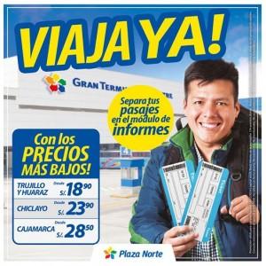 Viaja a Trujillo y Huaraz desde S/. 18.90