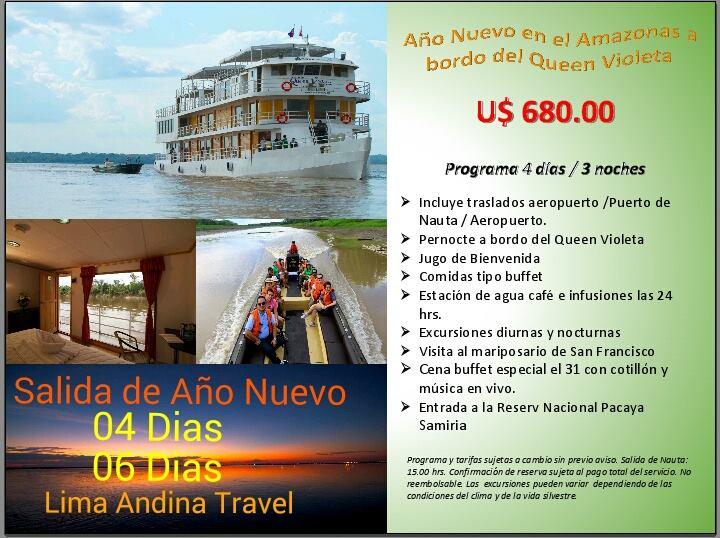CRUCERO POR LA AMAZONAS  AÑO NUEVO 4D/3N