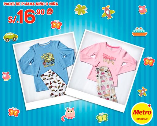 Pijama para niño o niña a sólo S/. 16.90