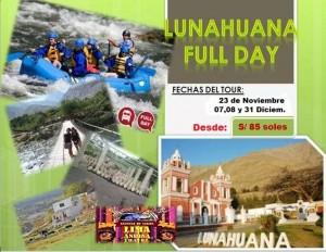LUNAHUANA NOV Y DICIEMBRE DESDE S/85 SOLES