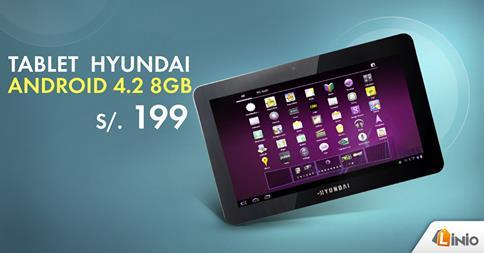 Tablet Hyundai a sólo S/. 199.00