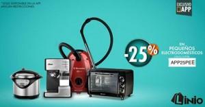 25% de descuento en electrodomésticos