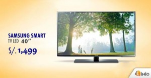Samsumg Smart TV a sólo S/. 1499.00