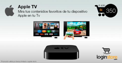 Apple TV a sólo S/. 350.00