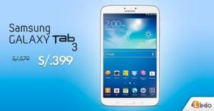 Samsumg Galaxy Tab3 a sólo S/. 399.00