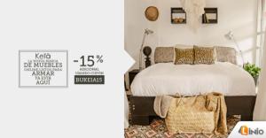 15% de descuento en muebles