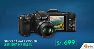 Cámara Nikon a sólo S/. 699.00