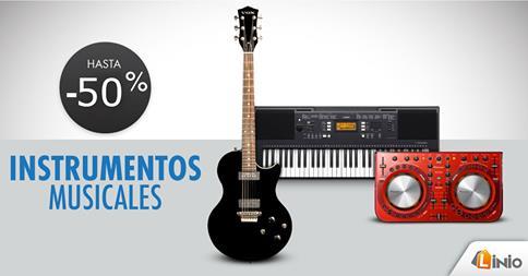 Hasta un 50% de descuento en instrumentos musicales