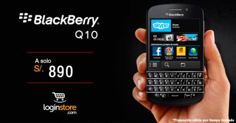 BlackBerry Q10 a sólo S/. 890.00