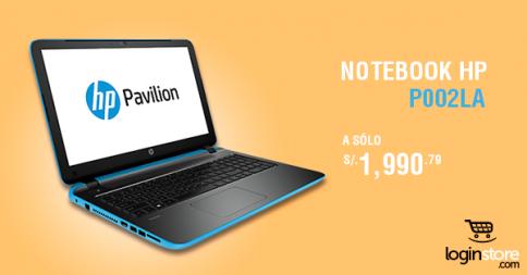 Notebook HP a sólo S/. 1990.79