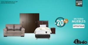 20% de descuento en muebles