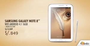 """Samsumg Galaxy Note 8"""" a sólo S/. 849.00"""
