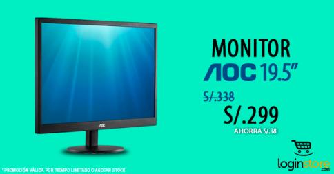 Monitor AOC a sólo S/. 299.00