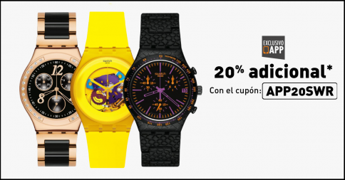 20% de descuento en relojes Swatch