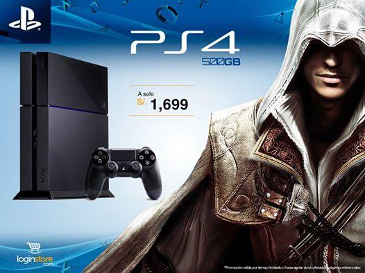 PS4 a sólo S/. 1699.00