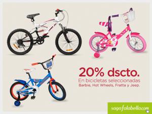 20% de descuento en bicicletas