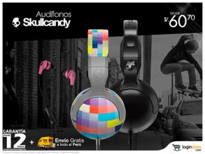 Audífonos Skullcandy desde S/. 60.70